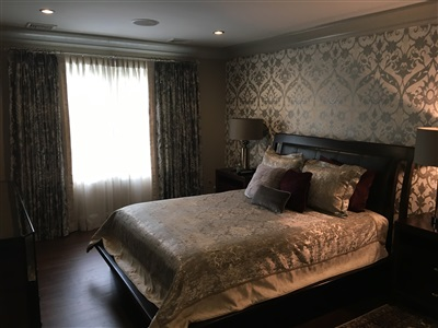 Custom Bedroom Window Treatments